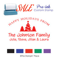 SALE ITEM: Custom Pre-Ink Stamp: Trees Signature Style PZ-115