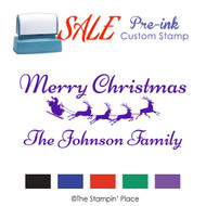 SALE ITEM: Custom Pre-Ink Stamp: Sleigh Signature Style PZ-117