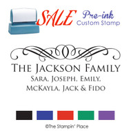 SALE ITEM: Custom Pre-Ink Stamp: Scroll Signature Style PZ-116