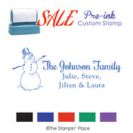 SALE ITEM: Custom Pre-Ink Stamp: Snowman Signature Style PZ-118