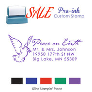 SALE ITEM: Custom Pre-Ink Stamp: Dove Address Style PZ-121
