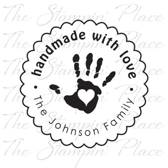 Handmade With Love Hand Print PK 318