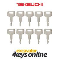 Takeuchi H800 Key (set of 10)