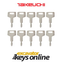 Takeuchi H800 Key (set of 10)
