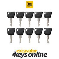 Bomag, JCB, Wacker Neuson,Dynapac 14607 Key (set of 10)