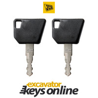Bomag, JCB, Wacker Nueson,Dynapac 14607 Key (set of 2)
