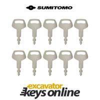 Sumitomo & Case S450 Key (set of 10)
