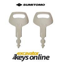 Sumitomo & Case S450 key (set of 2)