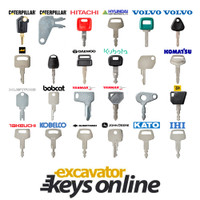 Excavator key Set of 5