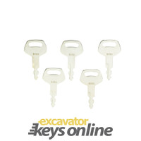 S450 Excavator Keys (Sets of 5) Starts Case & Sumitomo