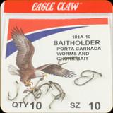 Eagle Claw 181A-10 Classic Hooks 10Pk Sz10 Brnz Baitholder