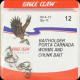 Eagle Claw 181A-12 Classic Hooks 10Pk Sz12 Brnz Baitholder
