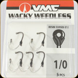 VMC WWK#1/0BNPP Wacky Weedles 1/0Sz Black Nickel 5Pc