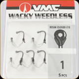 VMC WWK#1BNPP Wacky Weedles 1Sz Black Nickel 5Pc
