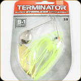Terminator S38CW02NG SS Spinnerbait 3/8oz Chartreuse White Shad