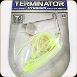Terminator T38CO02NG T1 Spinnerbait 3/8oz Chartreuse White Shad
