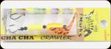 Macks Lure 60044 Cha Cha Crawler Lg #4 Org-Blk Tiger/Blk-Org