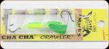 Macks Lure 60056 Cha Cha Crawler Rig #4 Grn Spkl Char/Grn