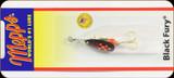 Mepps BF1 Fl Black Fury - Plain Trbl 1/8oz Fl Red Dot