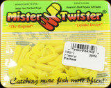 "Mr Twister TTSF20-2 Teenie Tail 2"" Yellow 20Pk"