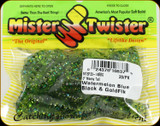 "Mr Twister MTSF20-14BBG Meeny Tail 3"" Watermelon Blu Blk & Gld Flk 20Pk"