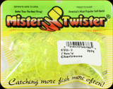 "Mr Twister MTSF20-10 Meeny Tail 3"" Chartreuse 20Pk"