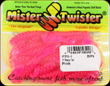 "Mr Twister MTSF20-6 Meeny Tail 3"" Pink 20Pk"