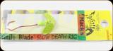Macks Lure 63303 Smile Blade Slow Death Rig #2 Char Spkl Yel/Ch/Ch