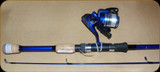 Okuma FN-602-25Bb Fin Chaser Spin Combo 6' 1BB w/Line 2Pc Blue