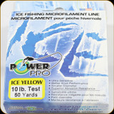 Power Pro Ice Fishing Line, 10 lb / 50 Yards - Yellow