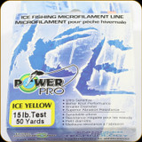 Power Pro Ice Fishing Line, 15 lb / 50 Yards - Yellow