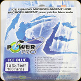 Power Pro Ice Fishing Line, 15 lb / 100 Yards - Blue