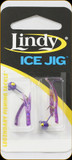 Lindy LIJT105 Ice Jig 1/32oz Purple w/Purple Tails 2/Pk