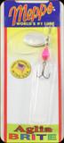 Mepps Aglia Brite Spinner - Pink/Silver Blade