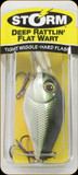 "Storm DRFW05600 Deep Rattlin Flat Wart 2"" 3/8oz Grn Chr Orange"
