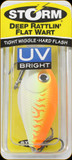 "Storm DRFW05652 Deep Rattlin' Flat Wart 2"" 3/8oz Orange Fire UV"