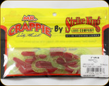 "Strike King MRCG2-187 Mr Crappie Grub Red-Cht Sil Glit Tail 2"" 20ct"