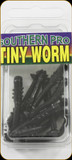 "Southern 1.5-10-TW01 Tiny Worms 10Pk 1.5"" Black"