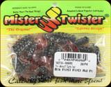 """Mister Twister TA2CT20-3S0S0RS Tri Alive 2"""" Curly Tail 20pk - Blk Fl/Cl Fl/Cl Rd Fl"""