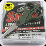 Sufix 660-020GPS 832 20Lb Braid Low- Vis Green w/Promo Scissors 150yds