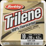 Berkley TFPS10-15 Trilene 100% Fluoro 10Lb 110yd Clear