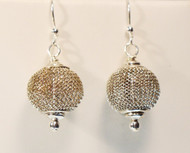 Small Mesh Silver Earrings