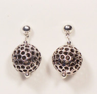 Antique Perforated Globe Earrings