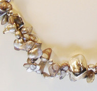 Silver Baroque Pearls with Silver Nuggets