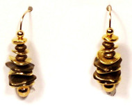 Brass and Gold Dancing Earrings
