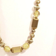 Petite Natural Brass and Glass with Gold Necklace