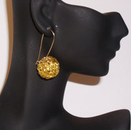 Antique Gold  Wire Bead Earrings