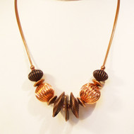 Petite Copper Wire Necklace with Spirals
