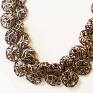 Bronze Wire Ribbon Necklace