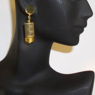 Classy Brass and Gold Plated Geometric Earrings